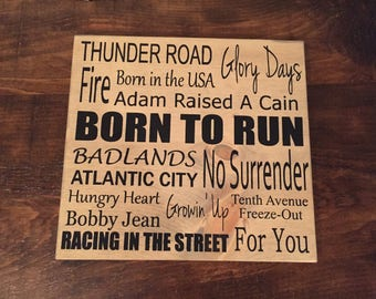 Bruce Springsteen - Greatest Hits - Custom Wood Sign