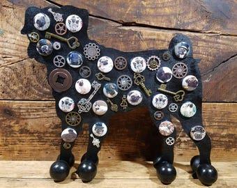 Steampunk Pug - Free Standing