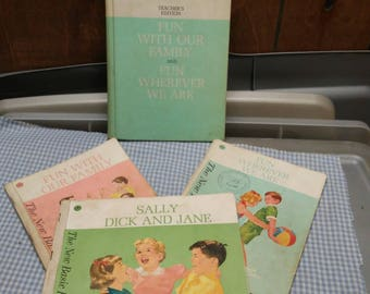 New Basic Readers 1962 Edition-set of 4