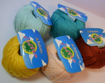 Patons 100% Cotton yarn various colors