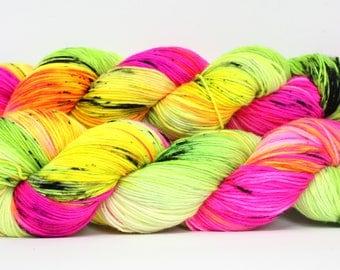 Sock superwash merino/nylon; Friday Night 100g, hand dyed yarn
