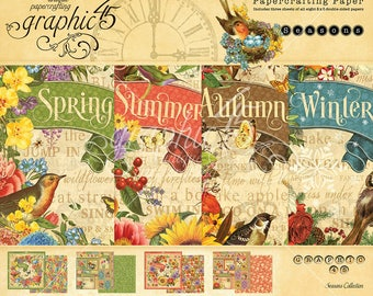 "Graphic 45 ""Seasons"" 8 x 8 Paper Pad"