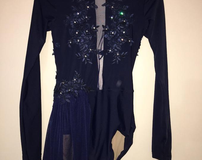 custom skirted leotard, quick ship leotard , leotard with skirt, skirted leotard dance costume,  dance leotard, custom dancewear,  fashion l