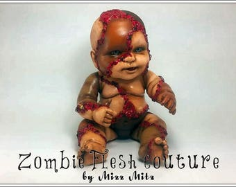 Patched Up Zombie Flesh Baby Doll