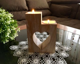 Christmas Set Handmade Doily Crochet U0026 Wooden Heart Candle Holder Doily  Table Decoration Lace Doily Tealight