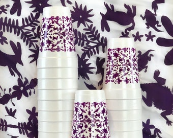 TCU Horned Frogs Otomi Inspired Styro Cups