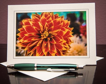 Dahlia No.3-Greeting cards-Note Cards-Flower-Nature-Happy Birthday-Family-Love-Photo Card-Floral-Wedding-Celebration-Congratulation-Gift
