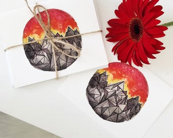Sky on Fire Note Cards