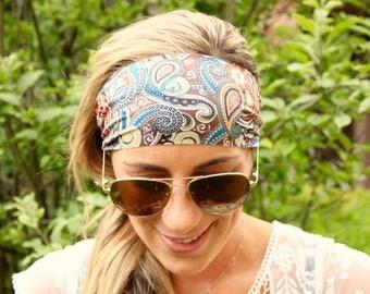 PAISLEY DESERT Yoga Headband, Workout Headband, Best selling Item, Running Headbands, boho headband, womens headband, turban wide headband