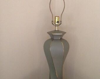 Lamp Mirris Greenspan Lamp Hollywood Regency,Tall Mid Century Green Morris Greenspan Lamp,Hollywood Regency lamp