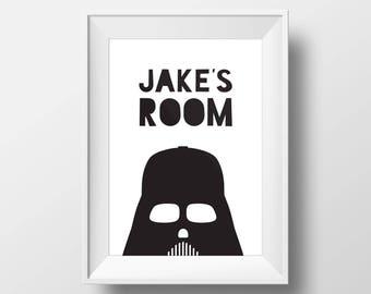 Darth Vader print, Custom signs, Custom name sign, Custom Name, Star Wars Poster, Star Wars Art, Star Wars Gift,  Star Wars Custom Name