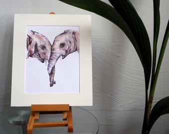 Elephant Love Print