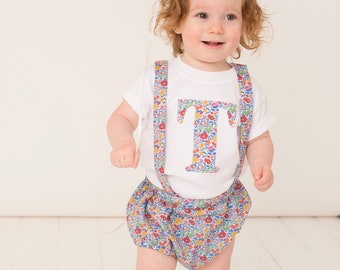 PETAL Suspender Bloomers Liberty of London Print Handmade Girls Baby Diaper Nappy Cover Tana Lawn Traditional
