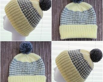 "Instant download ""Elise' knitted ladies  beanie knitting pattern, Beanie, Cap KP392"