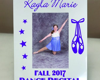 PERSONALIZED! Ballet Dance Recital Picture Frame