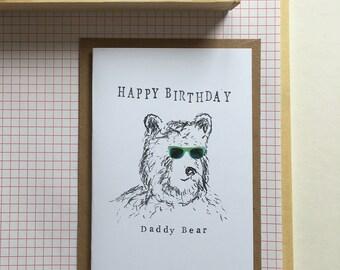 Happy Birthday Daddy Bear Card