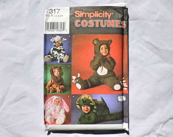 Simplicity Costumes 7317 Size A Vintage 1996 Halloween for Children