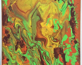 Acrylic Painting | Paint Pouring | Original Painting | Colourful | Abstract | Canvas