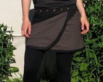 Skirt portfolio cotton Japanese sayagata with pressures