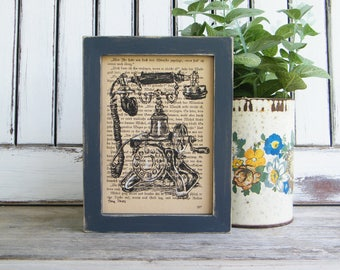 Framed Office Decor, Dictionary Print Art, Retro Poster, Book Art, Kitchen Wall Signs, Farmhouse Decor, Country Home Chick, Gift For Her