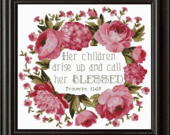 Call Her Blessed Cross Stitch Pattern PDF