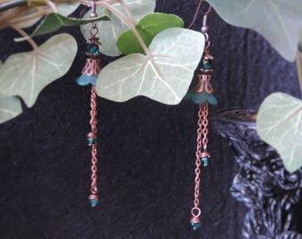 "Victorian earrings ""My Victorian Garden - copper"""