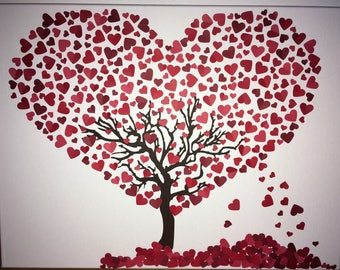 Heart Tree Canvas Art