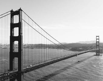 San Francisco Photography, Black And White Photography, Golden Gate Bridge, Golden Gate Print, Bridge Art, Wall Decor, Fine Art Photography
