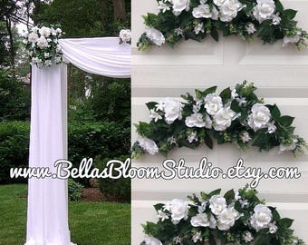 Wedding Arch Ceremony Chuppah Silk Flower Arbor Flowers