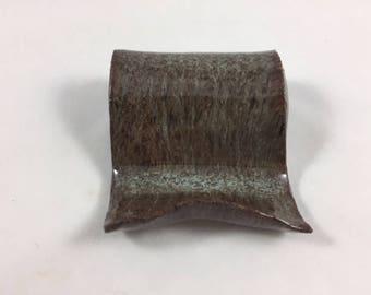 Business Card Holder, Ceramic Business Card Holder, Handmade, Hand Built Pottery, Gift for Him, Gift for Her, Office Gift, Christmas Gift