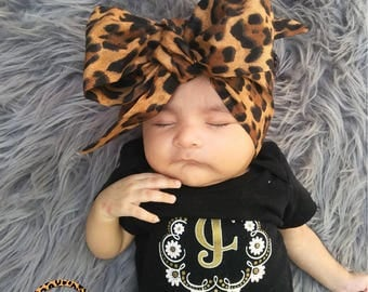 LEOPARD Headwrap, Fabric Headwrap, Baby Headwrap, Toddler Headwrap, Bow Headwrap, Cheetah headwrap, Newborn Headwrap, Turban Headwrap