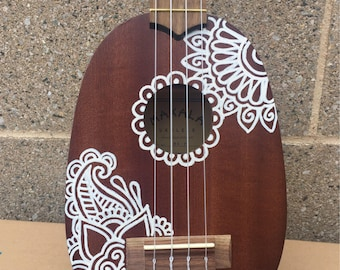 Painted pineapple ukulele