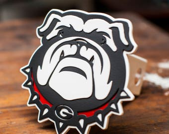 Georgia Bulldogs Trailer Hitch Cover
