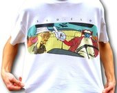 Ren and Stimpy Shirt Fear and Loathing Shirt 90s Graphic Shirt 90s Cartoon Shirt Aesthetic Clothing Alternative TShirt Tumblr Shirt