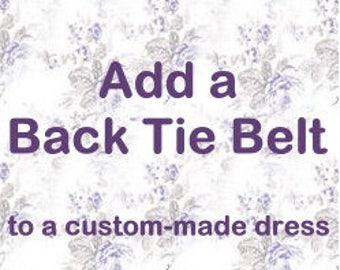Add a Back Tie Belt