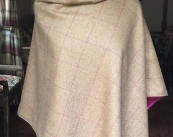 Brown tweed cape/wrap