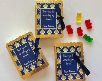 Book favor boxes, ameen party favors, book party, hifz, book favors, personalized wedding favors, pakistani wedding favour, hafiz, 12 ct