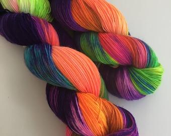 Hand Dyed 4ply Merino Nylon Platinum Sock You're Shining