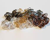 Spiral Bead Cages, 12pcs - 12mm Bead Cages, Spiral Cages, Wire Bead Cages, Wire Spirals, Copper Bead Cage, Gold Bead Cage