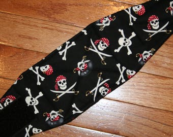 Belly Band, Male Dog Diaper, NEW DESIGN quilted for training, incontinence, marking, tapered ends - Pirates - by angelpuppi