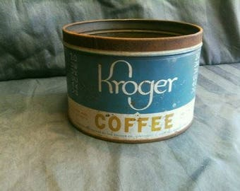 Vintage Kroger Coffee Tin