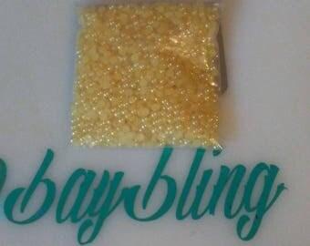 3mm yellow flatback  pearls