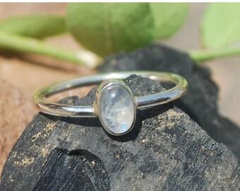 On Sale Natural Rainbow Moonstone Ring - Gemstone Ring - Gemstone Jewelry - Handmade Jewelry