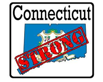 Connecticut State (K9) Strong Vinyl Decal Sticker Car/Truck Laptop/Netbook Window