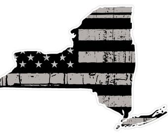 New York State (N33) Distressed Flag Vinyl Decal Sticker Car/Truck Laptop/Netbook Window
