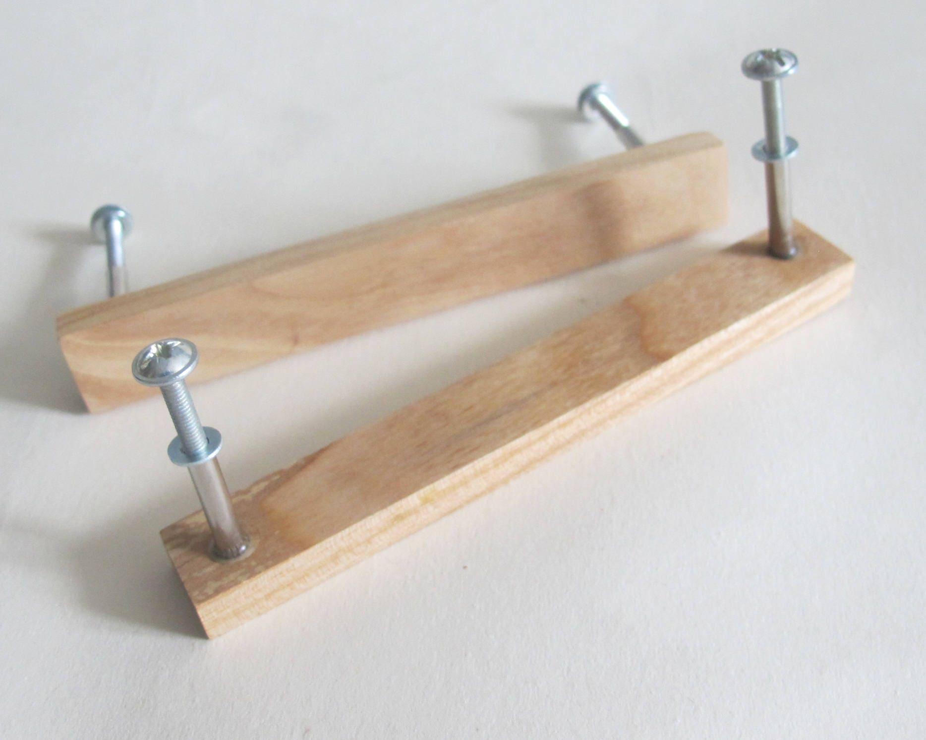 Wooden Drawer Pulls ~ Wooden drawer pulls set of oak wood handles