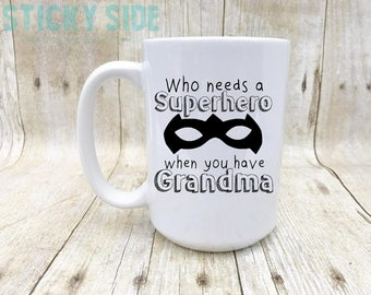 Super Grandma, Superhero Mug, Grandmother Mug, Grandma Mug, Grandma Coffee Mug, Coffee Mug Grandma, Mug For Grandma, Superhero Grandma