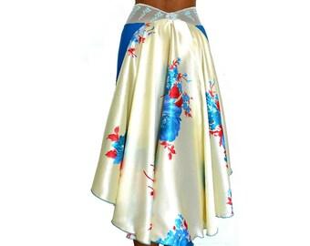 Blue Roses Classic Skirt