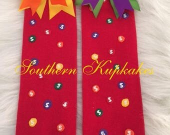 Red Legwarmers Made to Match out Skittles Tutu or Dress Set Listing for one pair Of Leg Warmers Only