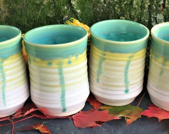 White Lotus Tumbler Set (Bundle of 4)